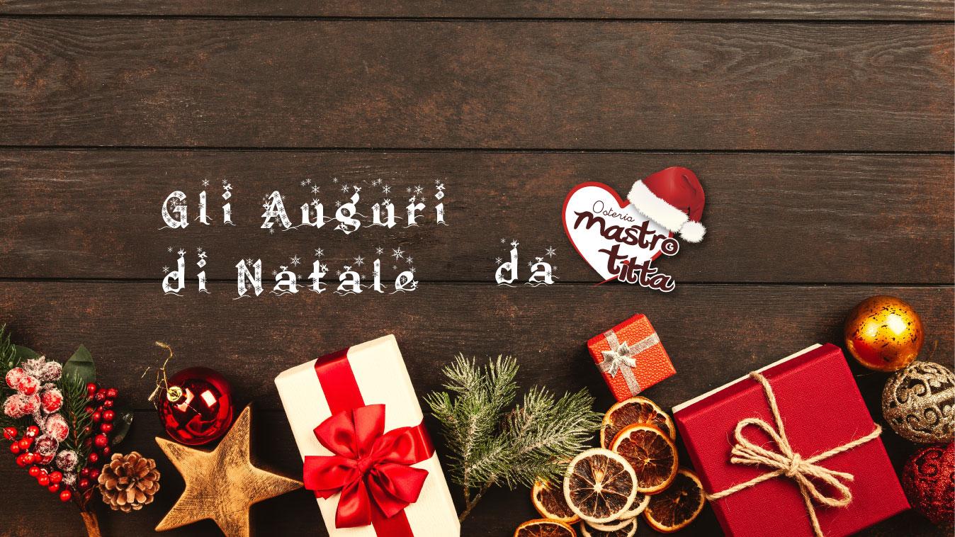 Gli Auguri di Natale 2018 da Osteria Mastro Titta